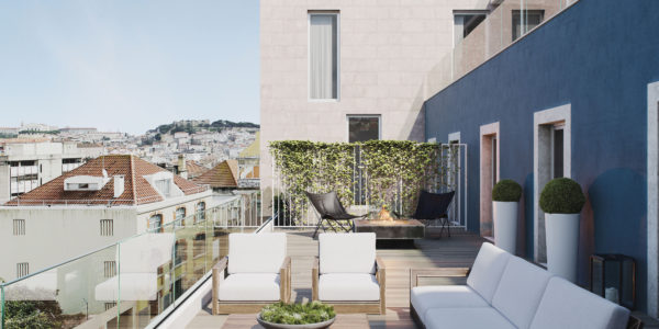 A Silver Keys Properties' Terrace from Taipas 18